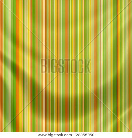 Elegantly Flowing Satin Fabric With Retro Stripes