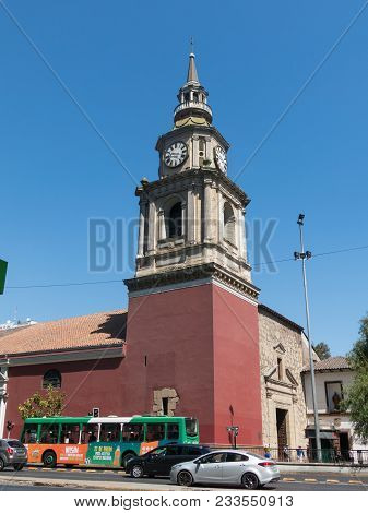 The Church Of San Francisco, Catholic Temple And Old Convent, In The Alameda, The Main Avenue Of San