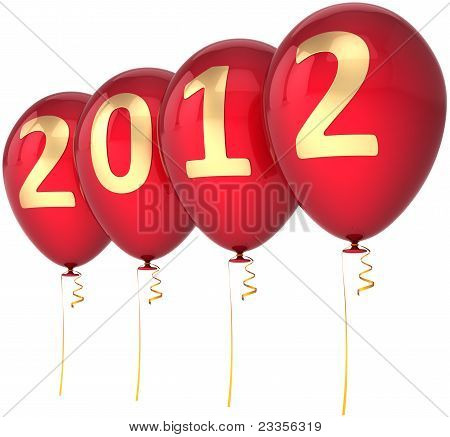 New Year 2012 balloons party decoration