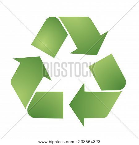 Recycle Logo, Circle, Natural, Green, Ecology, Recycling Set Of Round Symbol Icon Vector Design