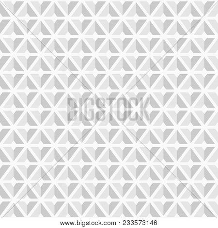 Abstract Geometric Seamless Pattern Of Triangular Geometric Shapes. Modern Stylish Texture. White An