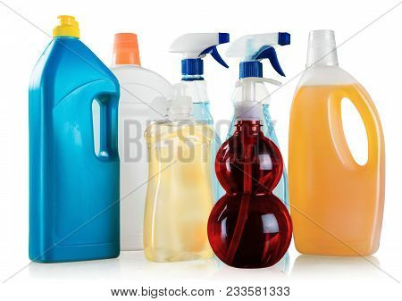 Cleaning Chemical Plastic Bottles Clean Detergent Bottle Detergent Cleaning Product