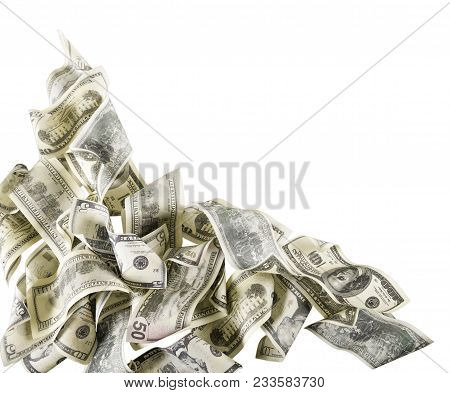 One Note Bank Dollars Hundred Banknotes Copy Space