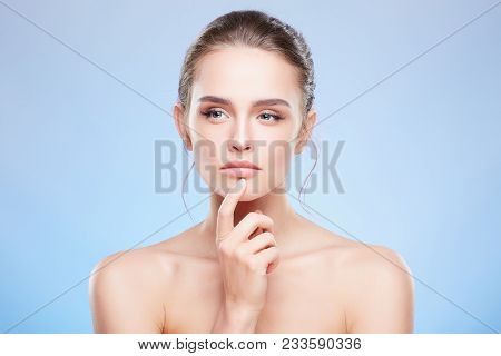 Woman Looking Aside Suspiciously