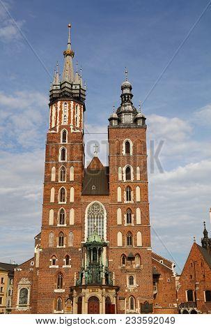 Church Of Our Lady Assumed Into Heaven (saint Mary Church), A Brick Gothic Church At Main Market Squ