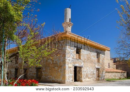 Crimea, Evpatoria - June 24, 2017: Old Dervish Mosque With Minaret Historical Place In Evpatoria, Cr