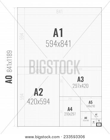 Paper Size Of Format Series A From A0 To A10