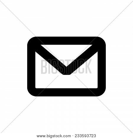 Message Icon Vector In Modern Flat Style For Web, Graphic And Mobile Design. Message Icon Vector Iso