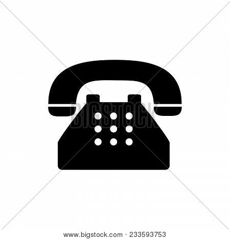 Old Typical Phone Icon Vector In Modern Flat Style For Web, Graphic And Mobile Design. Old Typical P