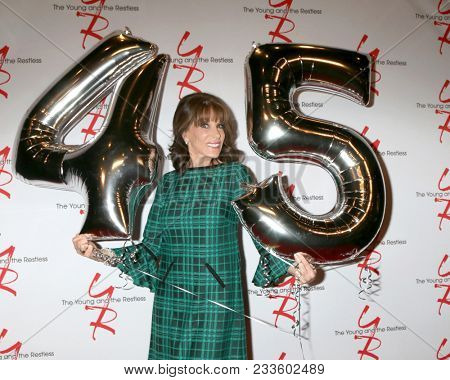 LOS ANGELES - MAR 26:  Kate Linder at the The Young and The Restless Celebrate 45th Anniversary at CBS Television City on March 26, 2018 in Los Angeles, CA