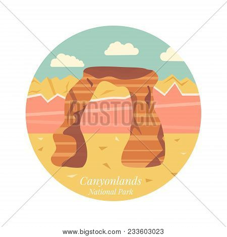 Welcome To Arches National Park, Utah Poster. Image Of Delicate Arch