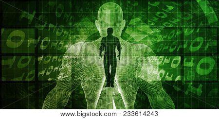 Brain Computer Interface with Square Digital Art Blocks