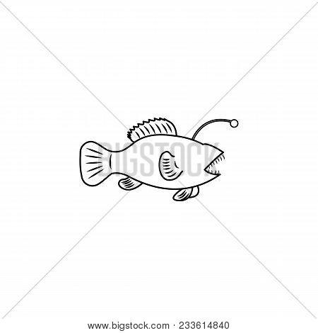 Angler Icon.element Of Popular Sea Animals Icon. Premium Quality Graphic Design. Signs, Symbols Coll
