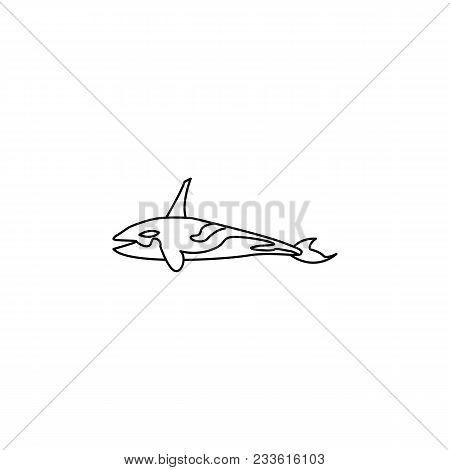 Killer Whale Icon.element Of Popular Sea Animals Icon. Premium Quality Graphic Design. Signs, Symbol