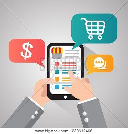 E-commerce Business, Internet Store Flat Banner Set