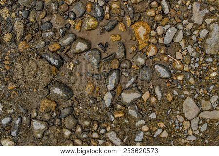 Rock Background. Stony Soil. Earth Texture. Nature Background. Ground And Stones. Rocky Ground. Rock
