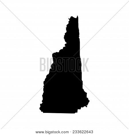 Territory Of New Hampshire. White Background. Vector Illustration