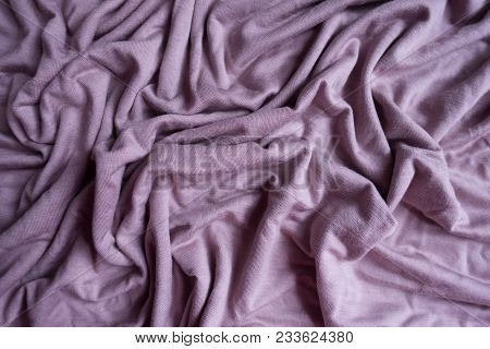 Draped Simple Pink Viscose Fabric From Above