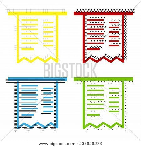 Paying Bills Concept. Payment Of Utility, Bank, Restaurant And Other Bills Sign Illustration. Vector