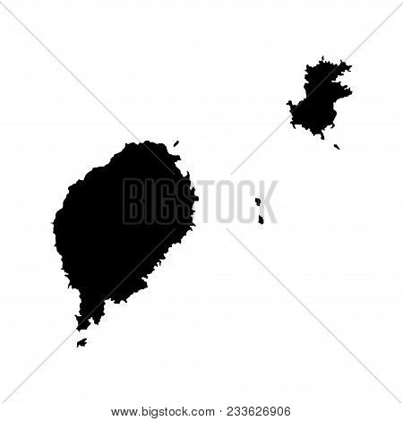 Territory Of Sao Tome And Principe. White Background. Vector Illustration