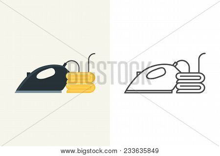 Iron Vector Icon Flat And Outline Style