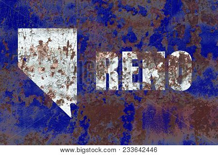 Reno City Smoke Flag, Nevada State, United States Of America