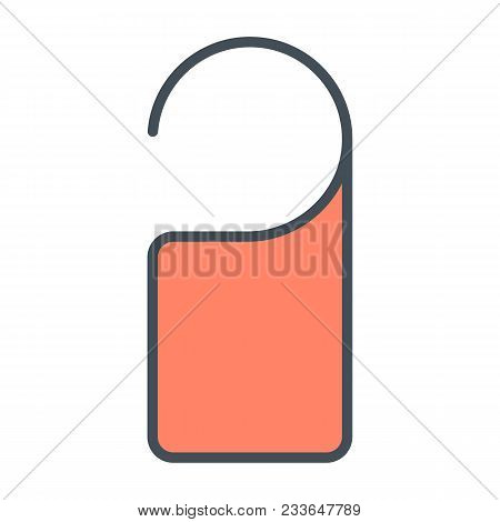 Door Label Hanging Line Icon.  96x96 For Web Graphics And Apps.  Simple Minimal Pictogram. Do Not Di