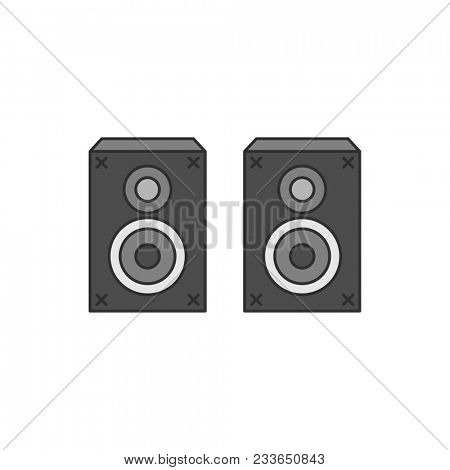 Audio speaker stereo sound system illustration