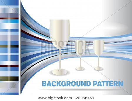 Pattern background with glasses