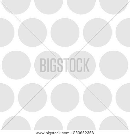 Tile Polka Dots Grey Vector Pattern For Decoration Wallpaper Background