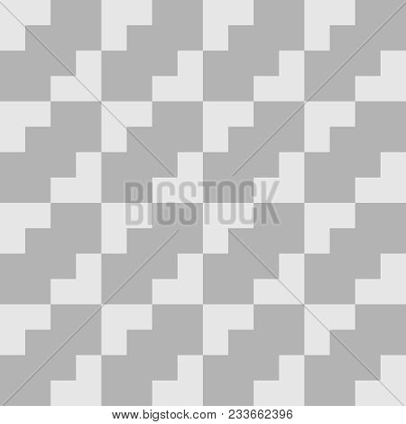 Tile Vector Pattern With Grey Background For Seamless Decoration Wallpaper
