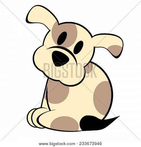 A Digital Illustration Of A Puppy On A White Background. Also