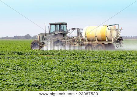 Sprühen von Pestiziden