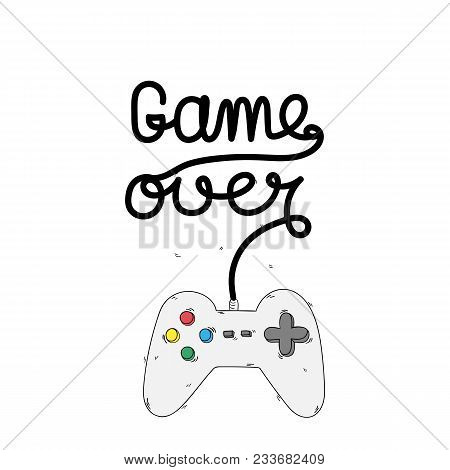 Game Over Game Controller Background Vector Image