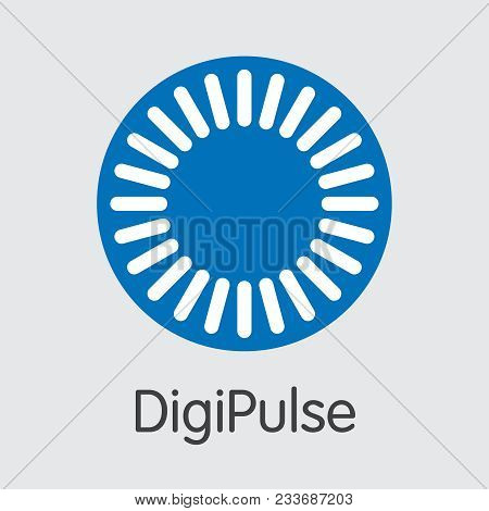 Blockchain Cryptocurrency Digipulse. Net Banking And Dgpt Mining Vector Concept. Cryptocurrency Mini