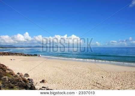 Beautiful Beach In Byron Bay Australia