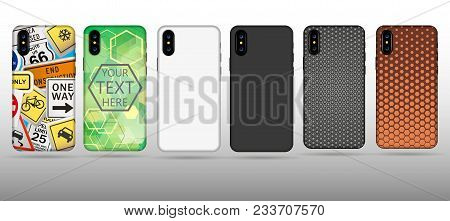 White Case For Phone Vector Illustration. On White Background. Stock Vector Illustration Eps10