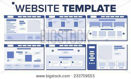 Website Flat Design Vector. Site Webpage. Web Page Design. Illustration