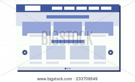 Website Flat Design Vector. Wireframes Layout. Web Design Concept. Illustration