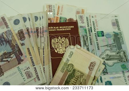 Passport On The Background Money Abroad Airport