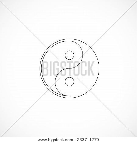 Outlined Yin And Yang Illustration For Design