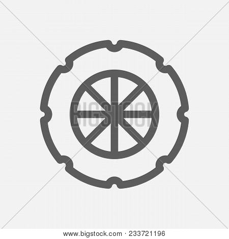 Tyre Logo Icon Line Symbol. Isolated Vector Illustration Of Tire Sign Concept For Your Web Site Mobi