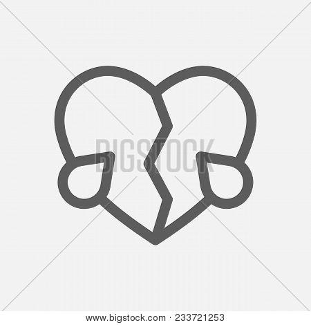 Broken Heart Love Vector Photo Free Trial Bigstock