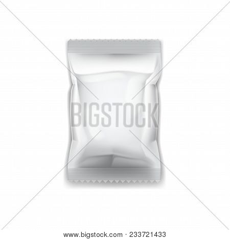 Sealed Empty Plastic Foil Bag With Transparent Shadow