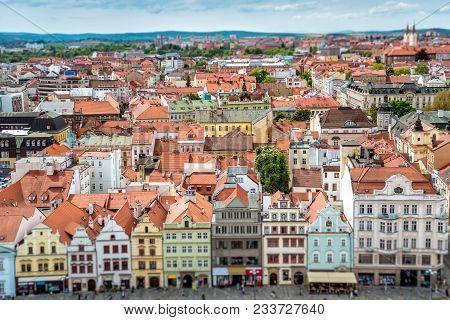 Buildings At Republic Square. Pilsen (plzen), Czech Republic