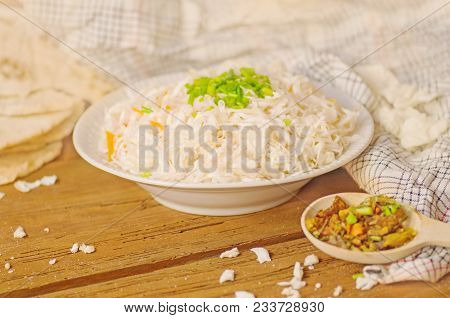 Fermented Cabbage  With Carrot In Bowl