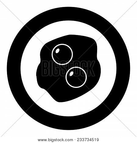 Scrambled Eggs Icon Black Color In Circle Vector Illustration