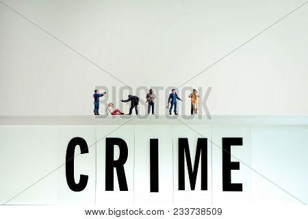 Various Crime Scenes. Color Tone Tuned. Macro