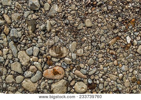 Rock Background. Stony Soil. Nature Background. Ground And Stones. Smooth Stones. Abstract Stone Bac