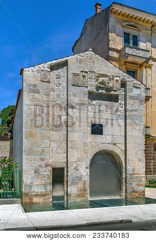 The building of the arsenal was built in the 18th century during the Venetian administration as a warehouse of the navy, Zadar, Croatia poster